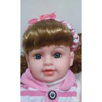 Bebê Boneca Tipo Reborn Realista + Brinde