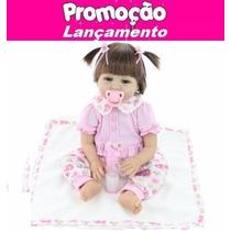 Boneca Bebe Reborn Realista Lacinho Bella - Pronta Entrega