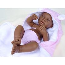Bebe Reborn Negro Pronta Entrega