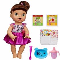 Boneca Baby Alive Hora De Comer Morena A8346 - Hasbro