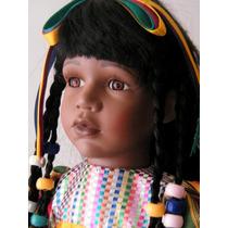 Rara Boneca De Porcelana Estilo Africana. Gabbie