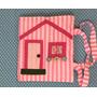Bolsa De Atividade Casinha De Tecido - Ateliê Feito Em Casa
