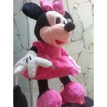 Kit 10 Peças- Pelucia Minnie 25cm Rosa+ 2 Minnies Rosa 50cm