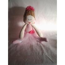 Boneca Artesanal De Pano Bailarina Decoração Quarto De Bebe