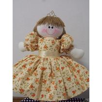 Boneca De Pano Princesa,decoradora, Festa Das Princesas