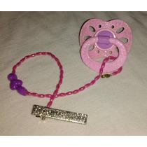Chupeta Personalizada Para Bebê Reborn ,com Glitter