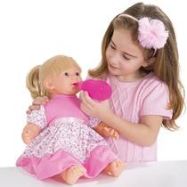 Boneca Baby Faz Xixi Com Fralda E Mamadeira 206 - Super Toys