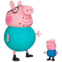 Bonecos Peppa Pig - Papai Pig E George - Estrela