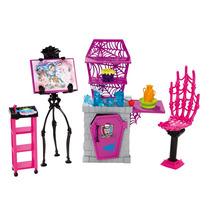 Boneca Menina Monster High Móveis Studio Sala Aula De Artes