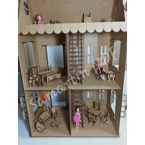 Casa Casinha De Boneca Polly 27 Móveis Grátis Frete Barato
