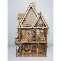 Casa Casinha De Boneca Mdf Polly 43 Móveis Frete Mais Barato