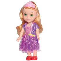 Mini Boneca Princesinha Rapunzel 16cm 1100 - Baby Brink