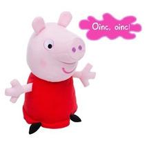 Boneca Peppa Pig Pelúcia C/ Som Estrela Original Licenciada