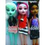 Kit(3)bonecas Monster High Draculaura Articuladas+brinde