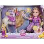 Boneca Rapunzel E Cavalo Maximus - Enrolados - Long Jump