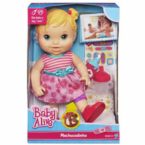 Boneca Baby Alive Machucadinho Loira A5390 Hasbro+brinde