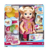 Boneca Baby Alive Comilona Loira B0632 Hasbro+brinde