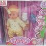 Boneca Baby Bebê Luxo Com Chupeta E Mamadeira + Acessórios