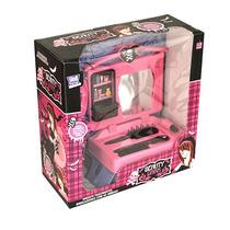 Brinquedo Infantil Penteadeira Com Maquiagem Beauty Dark