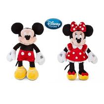 Disney Store Pelúcia Minnie E Mickey Vermelha 100% Original