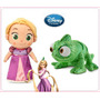Disney Store Pelúcia Rapunzel E Pascal Enrolados No Brasil