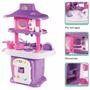 Cozinha Infantil Completa Fogão, Pia, Microondas, Geladeira