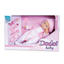 Boneca Babê Dodoi Baby Rosa Infantil Super Toys