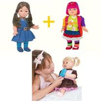 Kit Boneca Chiquititas Mili E Laura + Boneca Picolé Azul