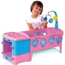 Berço De Boneca Doce Sonho Rosa - Magic Toys Frete Grátis