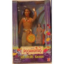 Boneco Kocoum Sun Colors Raro Pocahontas Disney 1995 Índio