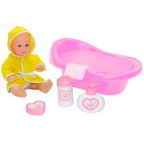 Boneca Hora Do Banho Banheira E Acessórios 1382 Baby Brink