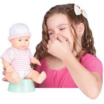 Boneca Baby Pum Com Pinico E Som 1593 - Baby Brink