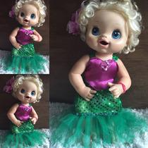 Baby Alive Fantasia Ariel Pequena Sereia
