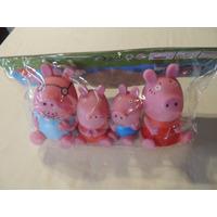 Turma Peppa Pig Borracha Para Bebê - Kit 4 Bonecos