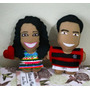 Mini Toy Art Caricatura Personalizada Feltro (13cm) Amor