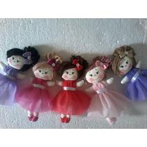5 Mini Bonecas De Pano Bailarina 15cm Delicada Lembrancinhas