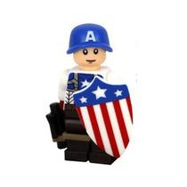 Capitão América 1º Uniforme Lego Compatível Marvel Cod. 075