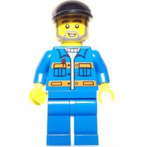 Lego Boneco Construtor Boné Preto - City - Frete R$5,00