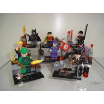 Batman Joker Charada Pinguim Asa Noturna 8 Bonecos = Lego