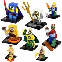 Lego Compatível - Kit 8 Bonecos - Bob Esponja
