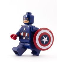 Super Heroes Decool - Capitão America - Comp Lego Dc/marvel
