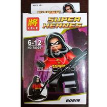 Robin Com Capuz - Batman Dc - Lele Compatível Com Lego
