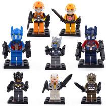 Tipo Lego Bloco De Montar - Transformers 8 Modelos