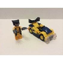 Wolverine + Carrinho, Mini Figuras Super Heroes Marvel.