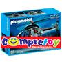 Playmobil Helicóptero Da Polícia 18 Peças - Sunny