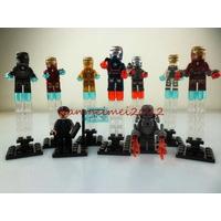 Kit 9 Bonecos Homem De Ferro Tipo Lego - Iron Man Avengers