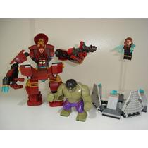 Marvel Avengers Combate De Hulk Buster 248 Peças = Lego