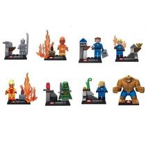 8 Tipo Lego Quarteto Fantástico E O Surfista Prateado !!!!