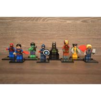 Kit Super Heroes Com 8 Minifiguras - Compatível Com Lego