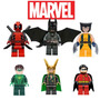 6 Bonecos Lego Compatível Deadpool Wolverine Lanterna Verde